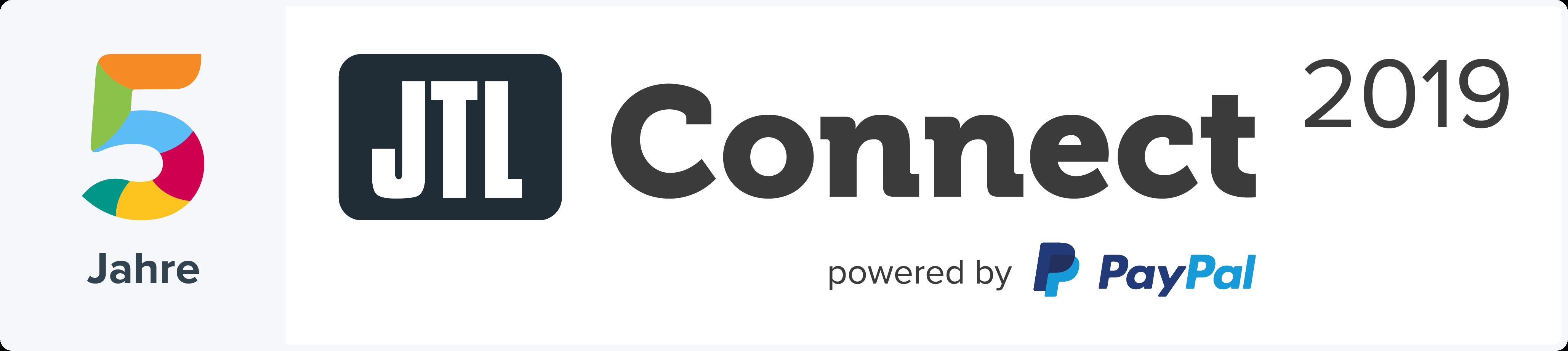 JTL-Connect 2019 Jubiläumslogo Hell